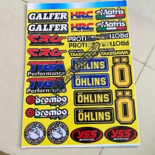 Logo Sticker giấy vàng dán trang trí xe máy thumbnail