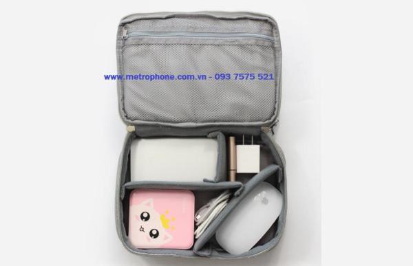 Giá Túi đựng đồ công nghệ phụ kiện điện thoại Baona 2 ngăn (23cm x 16cm x 8.5cm )