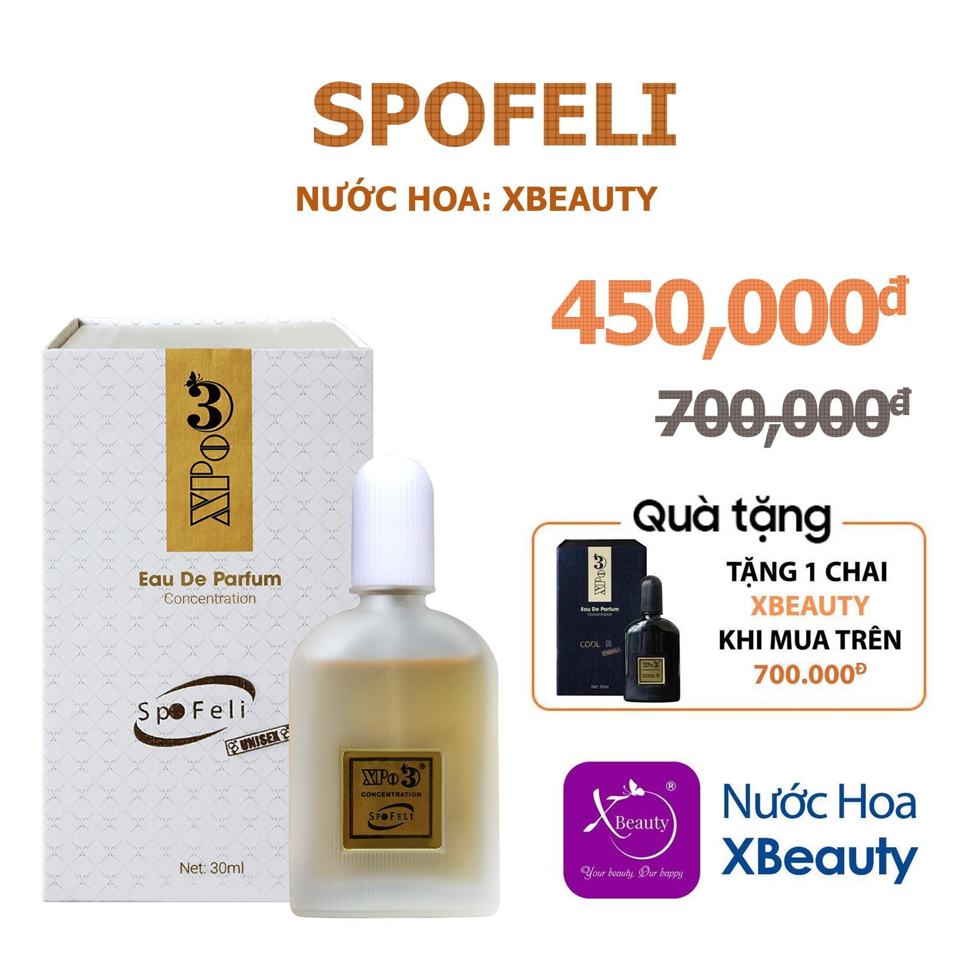 Nước hoa Nam Nữ XBeauty XPo3 Spofeli 30ml (GTIN: 8938511722055). Nước hoa cô đặc thơm lâu dành cho Nam & Nữ (Unisex)