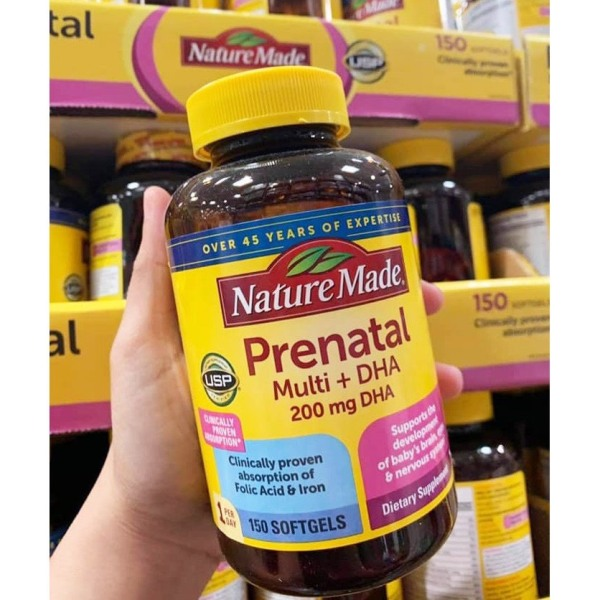 Vitamin cho bà bầu Nature Made Prenatal Multi DHA 200mg 150 viên [MỸ]