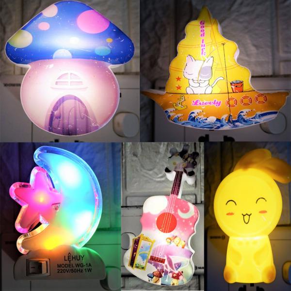 [Theo Dõi Shop-Nhận MGG] Đèn ngủ  dễ thương cắm điện (hình ngẫu nhiên)