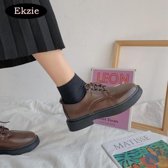 2021 phong cách mới của sinh viên kiểu Anh tất cả các phù hợp với giày da nữ nhỏ màu đen cổ điển Hàn Quốc giá rẻ