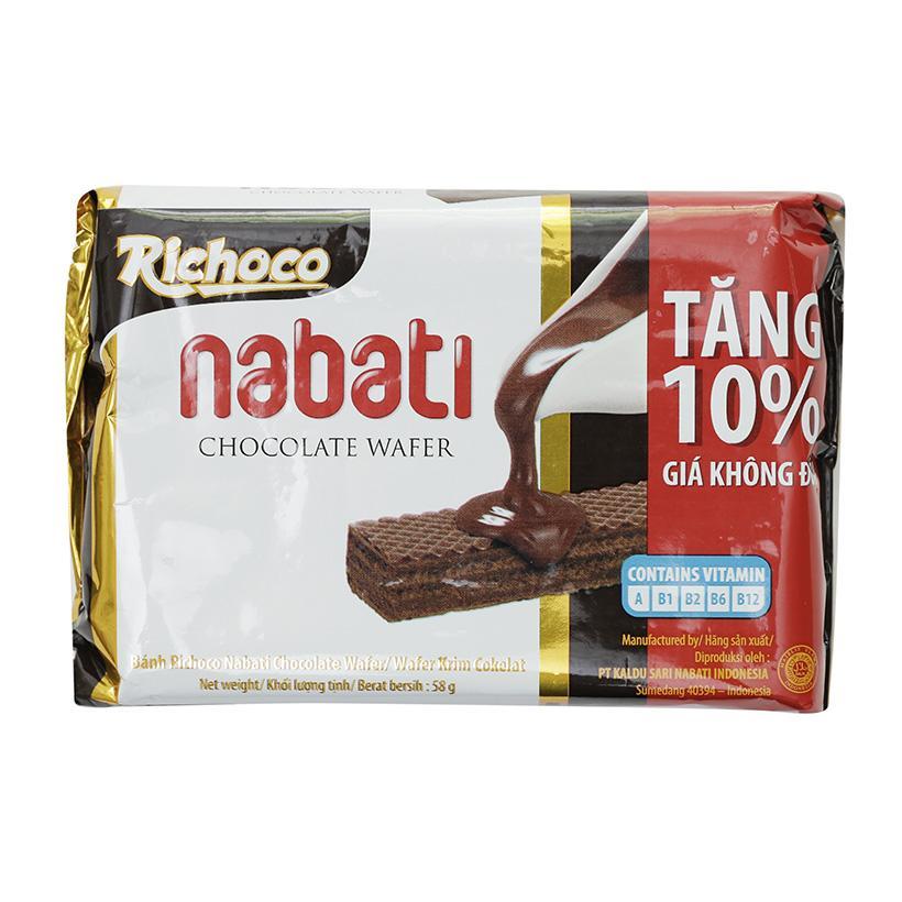 Combo 3 Gói Bánh Kem Xốp Socola Nabati 58g