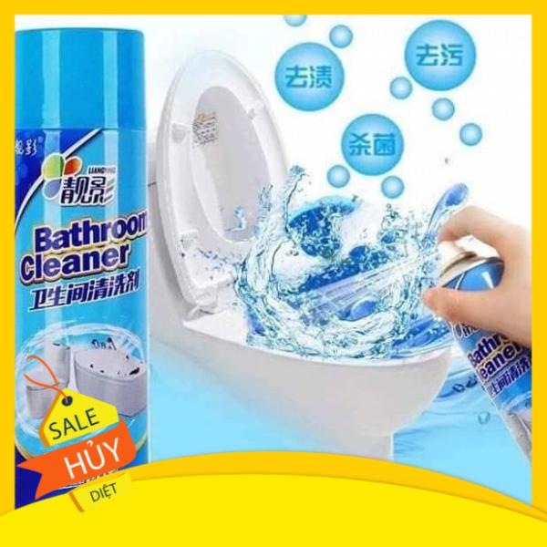 Combo 2 chai xịt tẩy rửa vệ sinh nhà tắm , sàn gạch siêu tốc 500ml - chai xịt bọt tuyết rửa bồn cầu