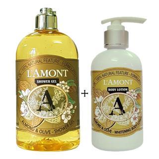 Sữa tắm 500ml và Sữa Dưỡng Thể 250ml LAmont En Provence Hương Hạnh Nhân thumbnail