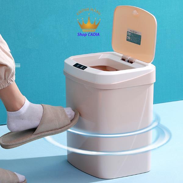 [BH 1 đổi 1 ] Thùng rác thông minh cảm ứng tự động Dùng sạc USB