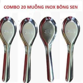 Muỗng ăn cơm inox sala combo 20 - đẹp không rỉ sét thumbnail
