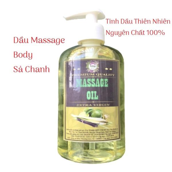 Dầu Massage Body Tinh Dầu Sả Chanh Thiên nhiên 100% 500ml-1000ml - Mềm mịn da giá rẻ