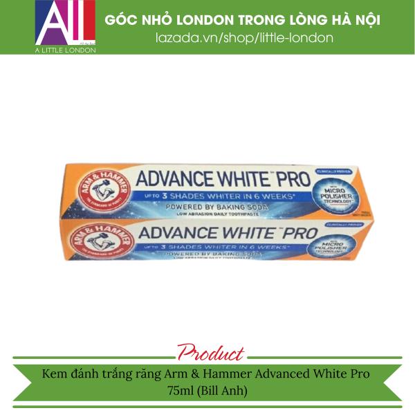 Kem đánh trắng răng Arm & Hammer Advanced White Pro 75ml (Bill Anh)