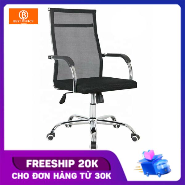Ghế xoay lưới lưng cao BOX204 - Khung thép siêu bền - Dòng ghế văn phòng được ưa chuộng giá rẻ
