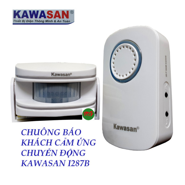 Chuông báo khách báo trộm không dây bằng cảm ứng hồng ngoại KAWASAN i287B