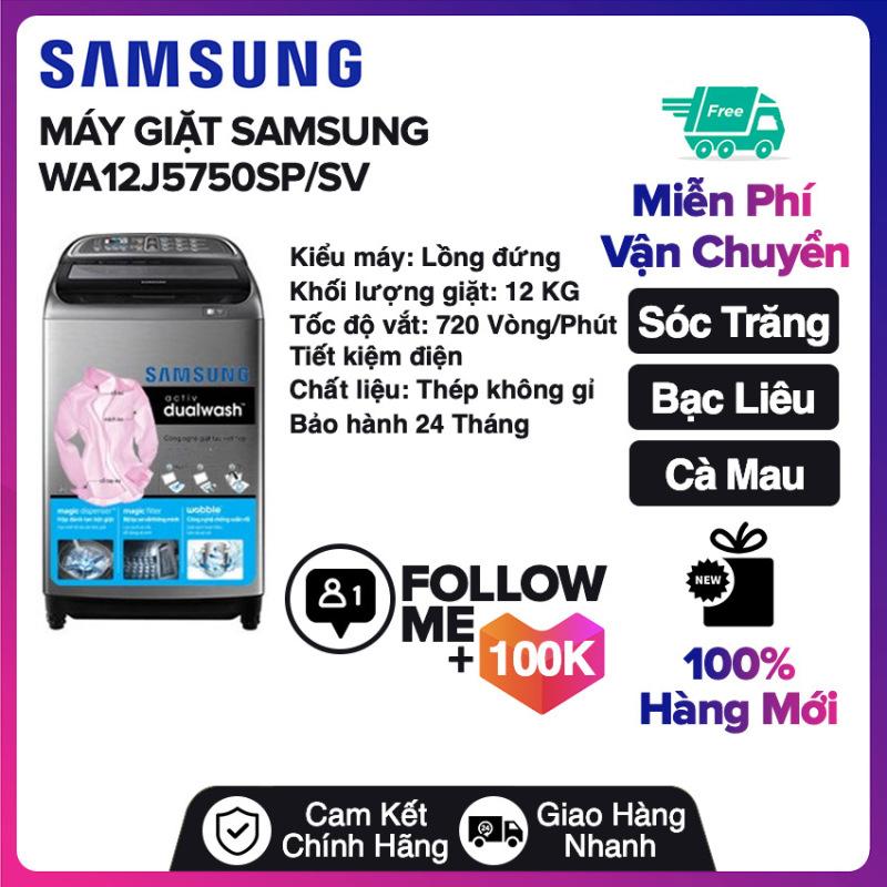 Bảng giá Máy giặt Samsung Inverter 12 Kg WA12J5750SP/SV Miễn phí vận chuyển nội thành Sóc Trăng, Bạc Liêu, Cà Mau Điện máy Pico