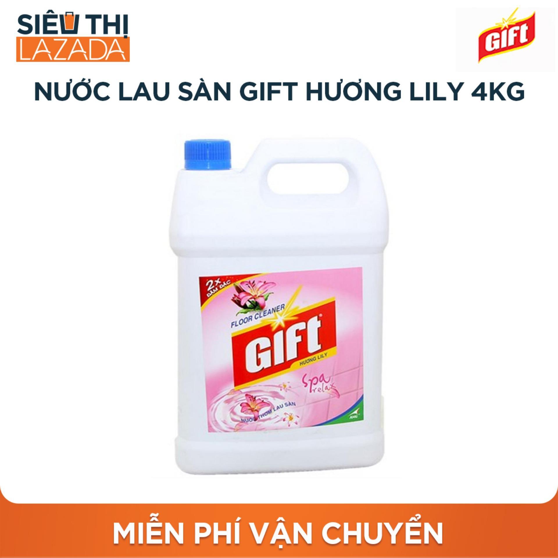 Nước Lau Sàn Gift Hương Lily 4kg By Lazada Retail Lazada Supermarket.