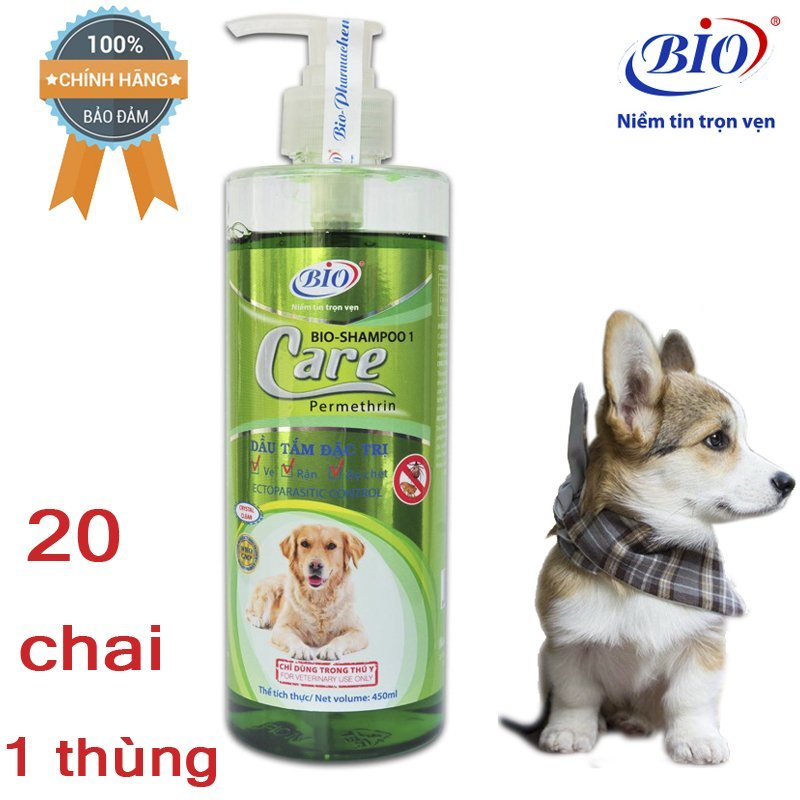 [HCM]Sỉ 20 chai Sữa Tắm Tiêu Diệt Ve Rận bọ chét Bio Care 450ml-79302