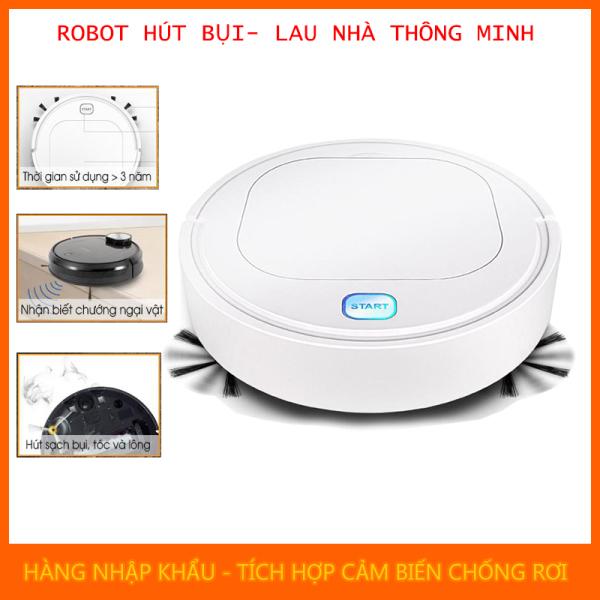[Xả Kho 3 Ngày] Robot Hút Bụi, Robot Lau Nhà, Máy Hút Bụi Lau Nhà Thông Minh, Robot Hut Bui - Hút sạch Cát, Bụi, Lông Chó, Mèo, Tóc rụng, Giấy - Chống Rơi - Pin Trâu, Lau nhà sạch tinh. BH 1 đổi 1