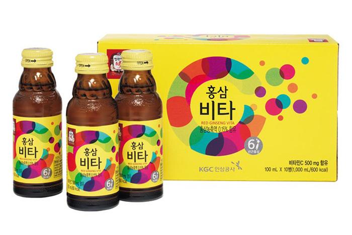 [HOT - SIÊU KHUYẾN MÃI] Nước uống tăng lực hồng sâm Vita 100ml x 10 chai – Cheong Kwan Jang KGC - Red Gingseng Vita - Vitamin C