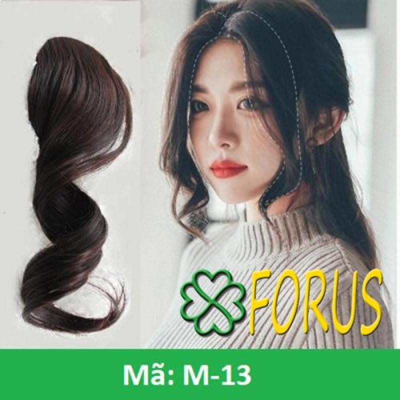 Tóc mái xoăn dài 2 bên M13, màu [nâu đen 4#] nhập khẩu
