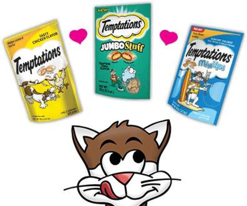 Bánh thưởng cho mèo Temptation 85g