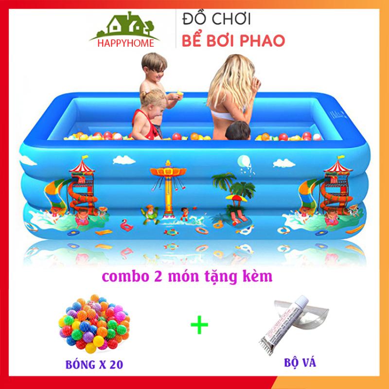 [ TẶNG 2 MÓN ] Bể Bơi Phao, Hồ Bơi Cho Bé Chất Liệu Nhựa PVC Nhiều Kích Thước - An toàn Cho Bé Tặng 1 Lọ Keo Và 2 Miếng Vá Bể Bơi Bảo Hành 1 Tháng