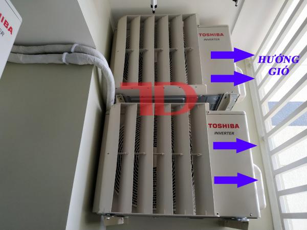 Chuyển hướng gió dàn nóng điều hòa từ 2HP đến 3HP, mặt nạ LOUVER chuyển hướng gió bằng sắt hoặc nhựa cao cấp Thái Lan