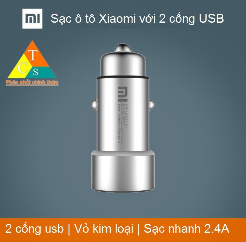 Bộ sạc ô tô Xiaomi mi car charger 2 ngõ usb