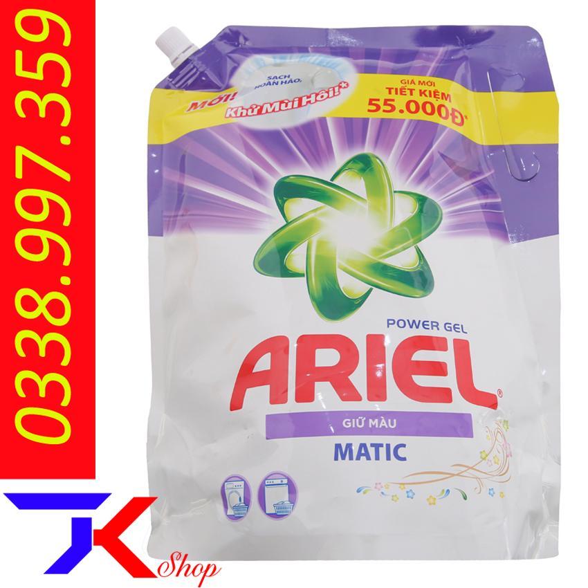 Nước Giặt Ariel Matic Giữ Màu Túi 2.15kg Giá Siêu Cạnh Tranh