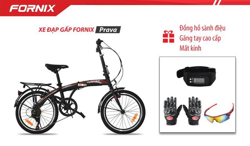 Phân phối Xe đạp gấp hiệu FORNIX, mã PRAVA + (Gift) Mắt kính, Đồng Hồ Đo Bước Đi, Găng tay