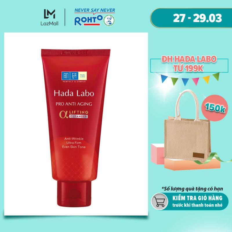 Sữa rửa mặt dưỡng chuyên biệt chống lão hóa Hada Labo Pro Anti Aging α Lifting Cleanser (80g) giá rẻ