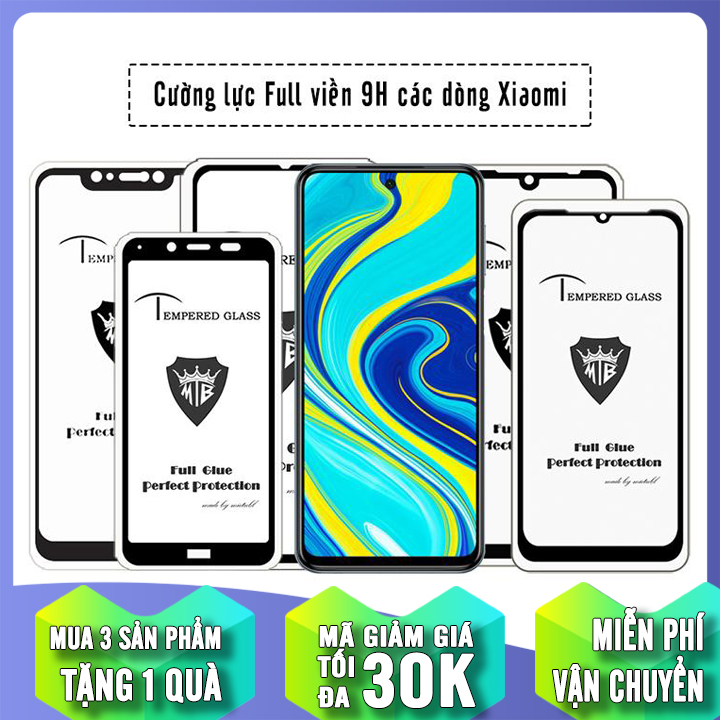 Offer Khuyến Mại [MUA 1 TẶNG 1] Cường Lực Full Đen Cho Các Dòng Máy Xiaomi Redmi K30/ Pocophone X2/Redmi Note 9S/Redmi 7 / Note 5 / Pocophone F1 / Redmi 5 Plus / Redmi S2 / Redmi 6 / Redmi 6A / Mi A2 / Mi 6X / Note 6 Pro / Redmi NT 7 / Mi 9 / Mi 9 SE