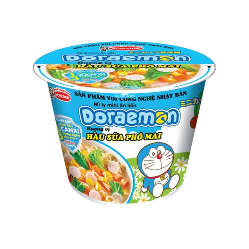 Mì Mini Doremon Hàu Sữa Phô Mai Ly 48G Có Giá Siêu Tốt
