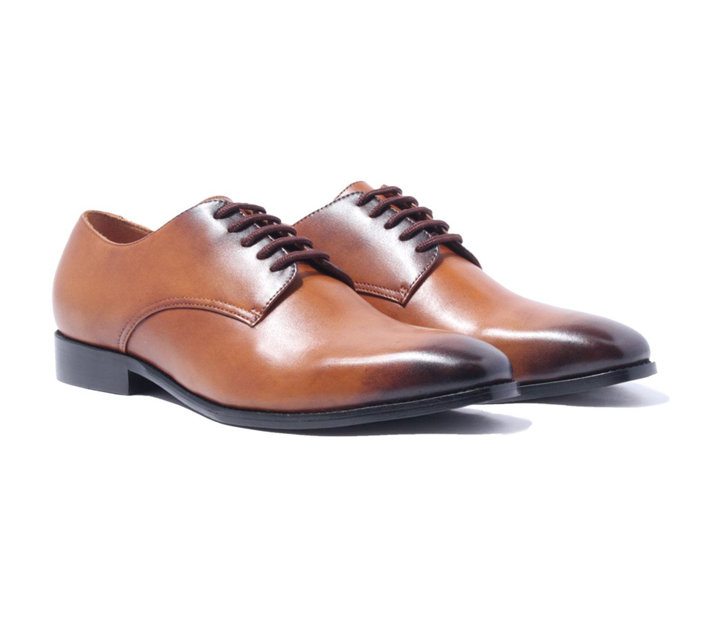 Giày tây cao cấp chính hãng BANULI, kiểu giày buộc dây công sở H1PD1M0 da bò Ý, đế pháp cao su tự nhiên