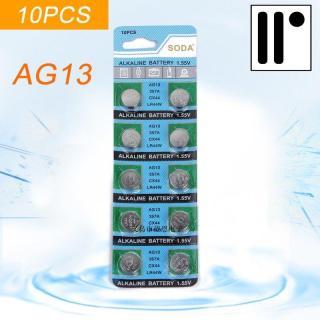 Pin Đồng Hồ AG13 LR44W SR44SW SP76 L1154 RW82 RW42 357A CX44 Cell Pin Chất Lượng Vỉ 10 Viên 1.55V - Hàng mới về thumbnail