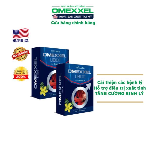 Combo 2 Hộp Viên uống tăng cường sinh lý nam giới Omexxel - Chính hãng Mỹ (Hộp 30 viên) cao cấp