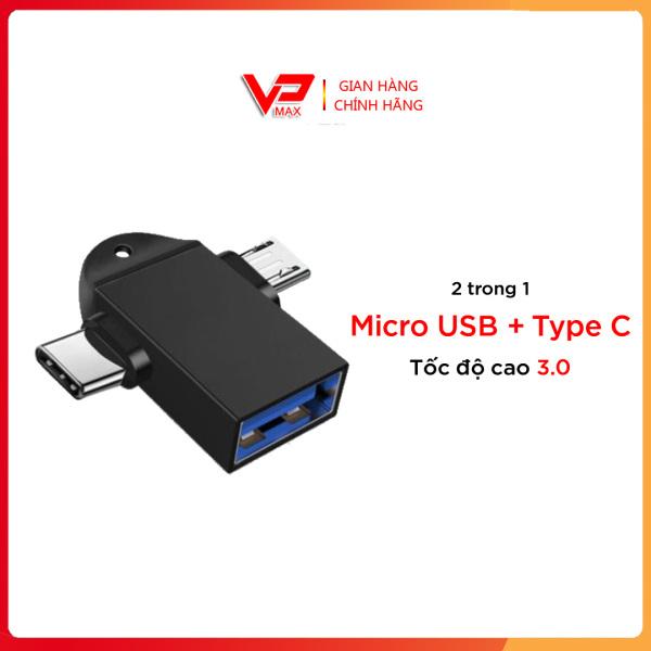 Bảng giá Bộ Chuyển Đổi OTG Micro USB Type C 2 Trong 1 Bộ Chuyển Đổi Truyền Tải Dành Cho Android Huawei, Cho Máy Tính Bảng Điện Thoại Phong Vũ