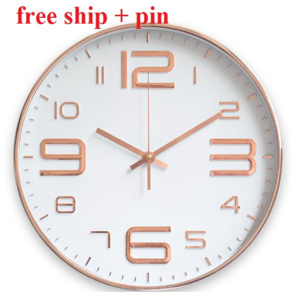 BAO SHIP +PIN Đồng Hồ Treo Tường kim trôi cao cấp QUARTZ bán chạy