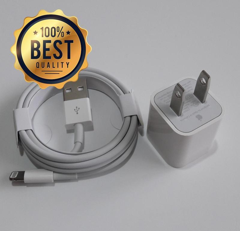 Giá Bộ sạc iPhone (dùng cho iPhone 8 Plus, iPhone 8, iPhone 7 Plus, iPhone 7, iPhone 6s Plus, iPhone 6 Plus (Cam kết hàng Zin - có hướng dẫn phân biệt) (Adapter 5W + Cable Lightning)
