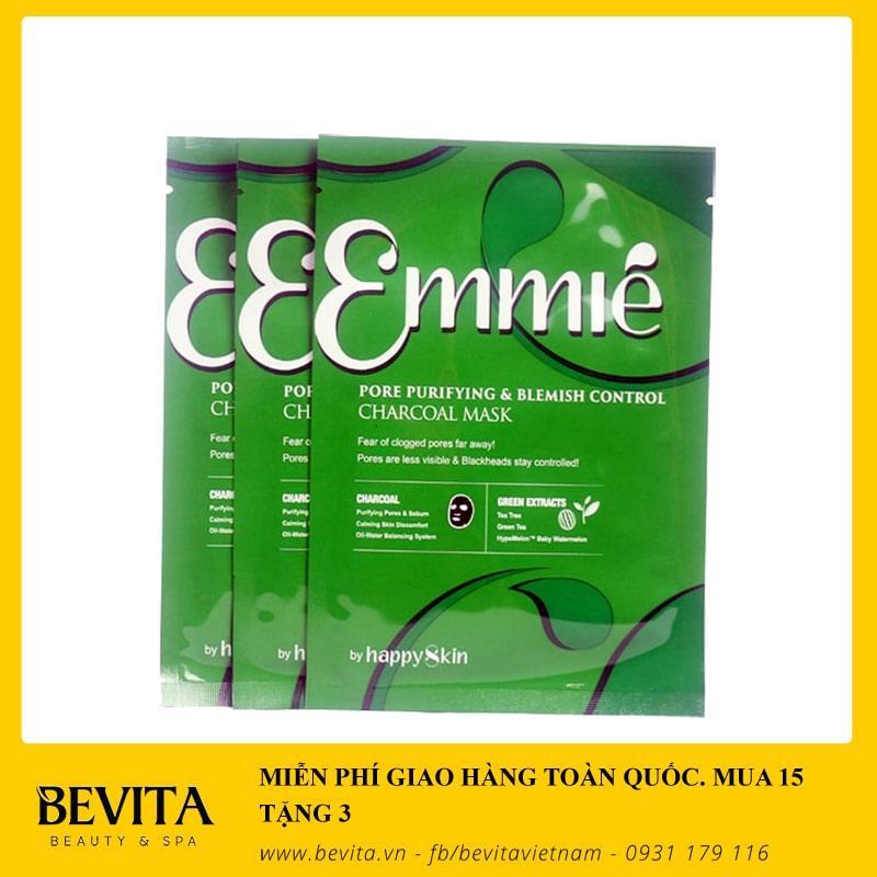 MUA 15 TẶNG 3 - Mặt nạ thải độc trị mụn Emmie Charcoal Mask 25ml tốt nhất