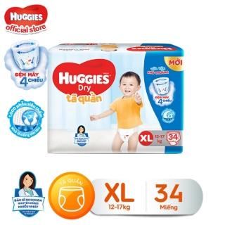 Tã quần HUGGIES DRY PANTS JUMBO M42 - L38- XL34 - XXL30 thumbnail