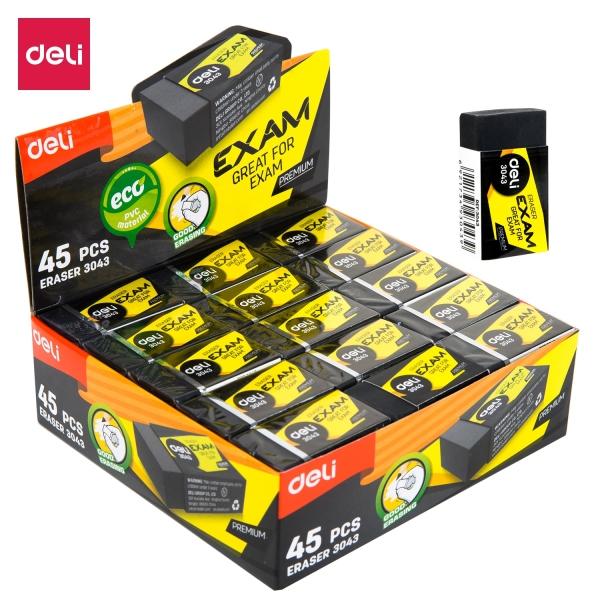 Mua Tẩy đen cao cấp DELI - Nhựa EcoPVC - Hộp 30 chiếc/Hộp 45 chiếc - E3042/E3043
