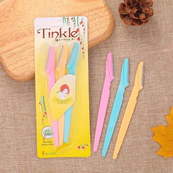 [Chính Hãng] Set 3 dao cạo chân mày Tinkle