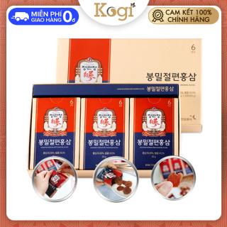 [CHÍNH HÃNG] Hồng sâm thái lát tẩm mật ong hàn quốc KGC Cheong Kwan Jang, Kogi Ginseng 20g x 6 gói có tác dụng tăng cường đề kháng, giảm căng thẳng stress, tăng cường lưu thông máu thumbnail