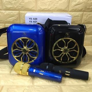 Loa karaoke mini, loa karaoke bluetooth, loa hát karaoke mini YS A20 hát cực hay tặng kèm micro không dây, míc sử dụng pin sạc thumbnail
