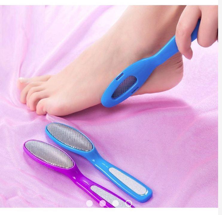 Combo 2 Dụng cụ chà gót chân bằng thép, giúp gót chân hồng hào cao cấp