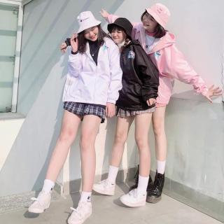 Áo khoác nữ dài tay thời trang, thiết kế phối màu độc đáo, siêu dễ thương thumbnail