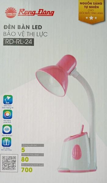 Đèn bàn LED Rạng Đông RD-RL-24 bảo vệ thị lực ( màu trắng - Hồng)