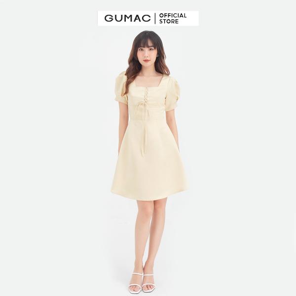 Nơi bán Đầm nữ cổ vuông đan dây GUMAC DB667