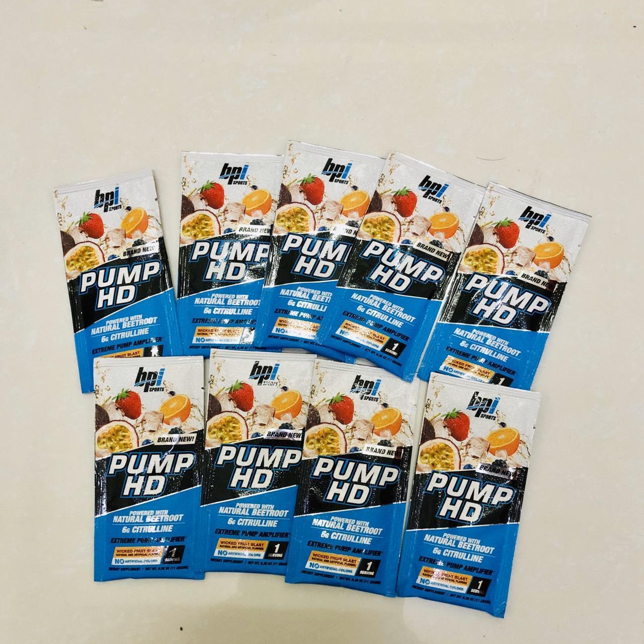 Gói thử sample Sữa dinh dưỡng tăng sức mạnh BPI Sports Pump HD 1 lần dùng
