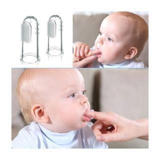 Rơ lưỡi, chải răng silicon xỏ ngón (có hộp đựng) cho bé thumbnail