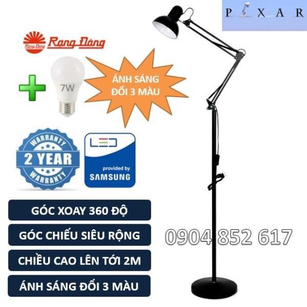 Bảng giá Đèn cây Pixar Cao 2m, bóng LED 7W đổi 3 màu Rạng Đông, ChipLED Samsung