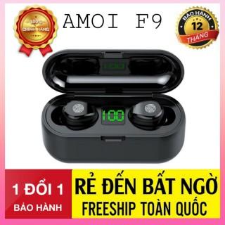 Tai Nghe Bluetooth Amoi F9 Bản Pro Quốc Tế Chip 5.0 , Chống Nước , Nút Cảm Ứng - Tai Nghe Bluetooth Amoi F9, Tai Nghe Bluetooth Nhét Tai Cho mọi dòng máy - Tai nghe buetooth không dây thumbnail
